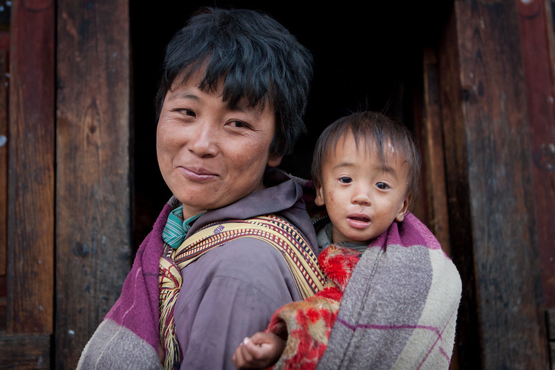 Mother and child. Haa village.