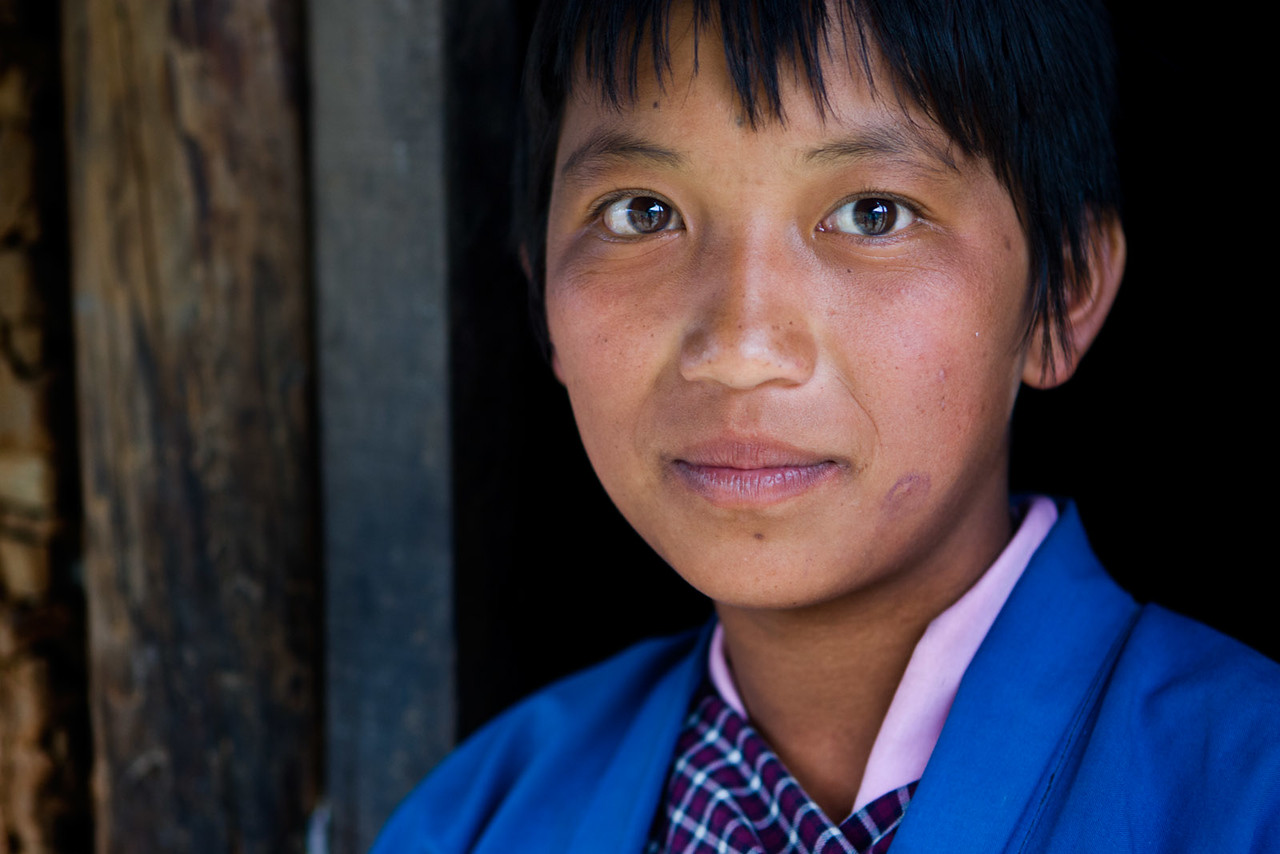 Young girl. Radi/Rangjung.