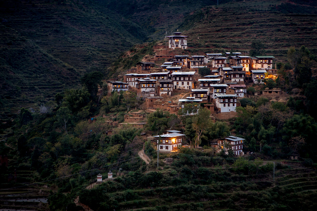 The small Rinchengang village.