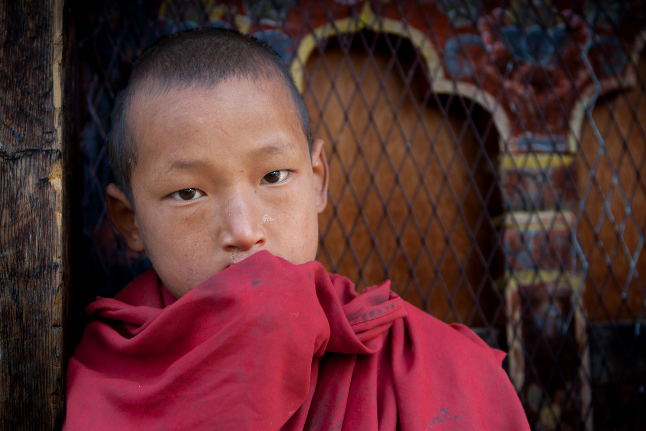 Novice monk. Haa Trashang.