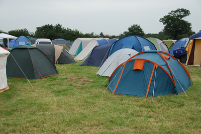 The DrumCamp Campsite on the first day