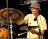 Johnny Vidacovich performs with Mose Allison at the New Orleans Jazz & Heritage Festival on April 28, 2007.