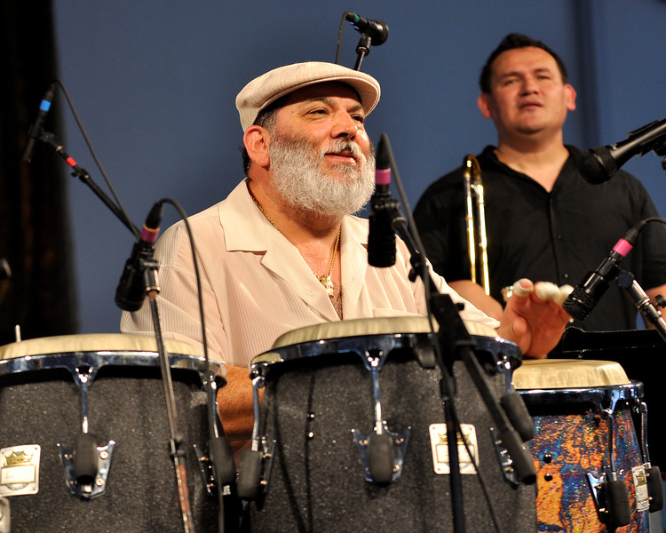 Pancho Sanchez performing at the New Orleans Jazz & Heritage Festival on May 1, 2009.