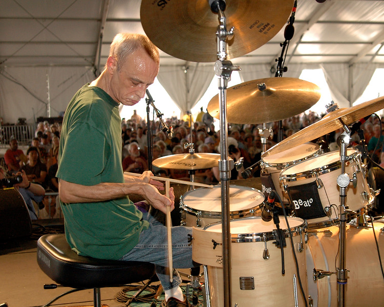 Johnny Vidacovich plays with Astral Project in the Jazz Tent at Jazzfest 2006.
