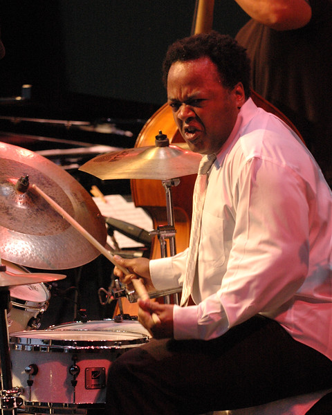 "Jeff ""Tain"" Watts performs with the Branford Marsalis Quartet at the Monterey Jazz Festival on September 18, 2005."