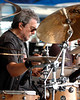Jim Keltner performs with T Bone Burnett at the New Orleans Jazz & Heritage Festival on April 27, 2007.