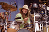 Wally Ingram performs with David Lindley at the New Orleans Jazz & Heritage Festival on May 5, 2000.