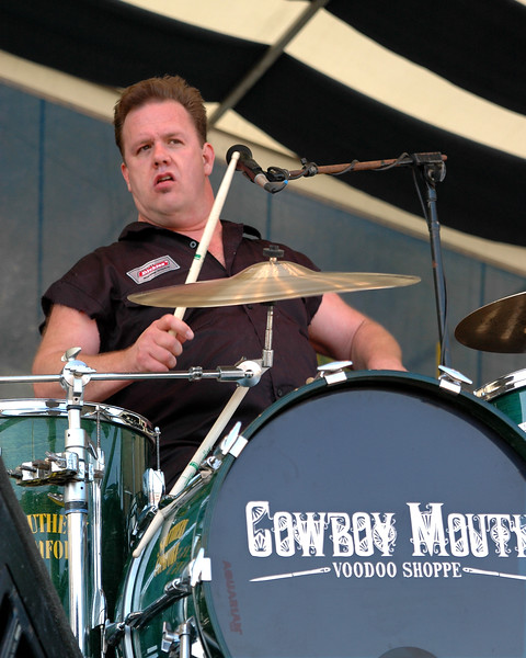 Fred LeBlanc performs with Cowboy Mouth at the New Orleans Jazz & Heritage Festival on April 28, 2006.