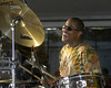 Neville Brothers drummer Willie Green performs with Cyril Neville's Uptown All-Stars at the New Orleans Jazz & Heritage Festival on April 25, 2003.