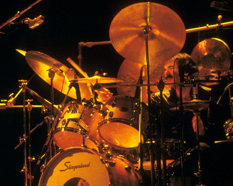 Peter Erskine performing with Weather Report at the Berkeley Community Theater on November 26, 1978.