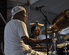 NEW ORLEANS, LA-APRIL 30: Shannon Powell performs with John Boutte in the Jazz Tent at the New Orleans Jazz & Heritage Festival on April 30, 2010. (Photo by Clayton Call/Redferns)