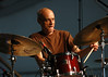 Johnny Vidacovich performing live on stage with Astral Project at the New Orleans Jazz & Heritage Festival on April 30, 2005.