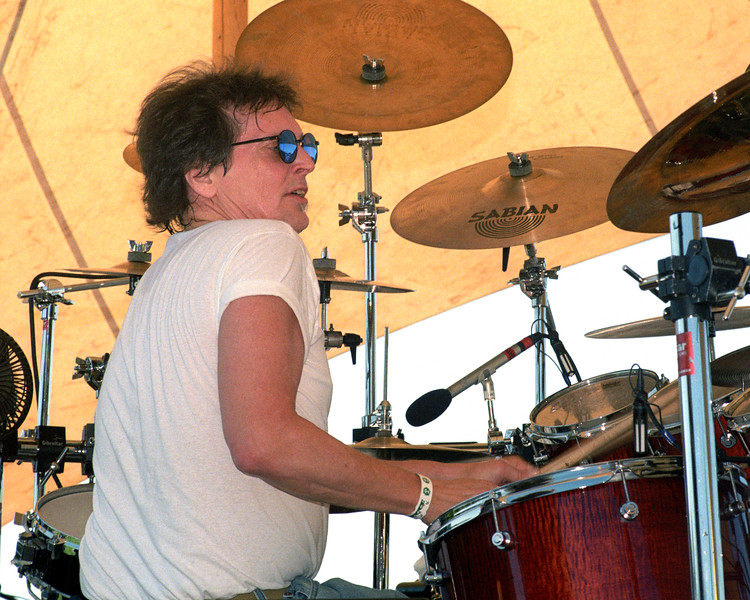 Richie Hayward performing live on stage with Little Feat at the Marin Music Fair in San Rafael, CA on August 14, 1999.