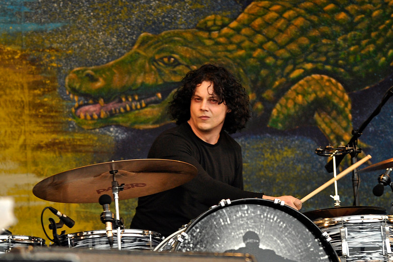 NEW ORLEANS, LA-MAY 2: Jack White performs with The Dead Weather at the Gentilly Stage at the New Orleans Jazz & Heritage Festival on May 2, 2010. (Photo by Clayton Call/Redferns)
