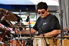 Cougar Estrada perfoming with Los Lobos at the New Orleans Jazz & Heritage Festival on May 3, 2009.