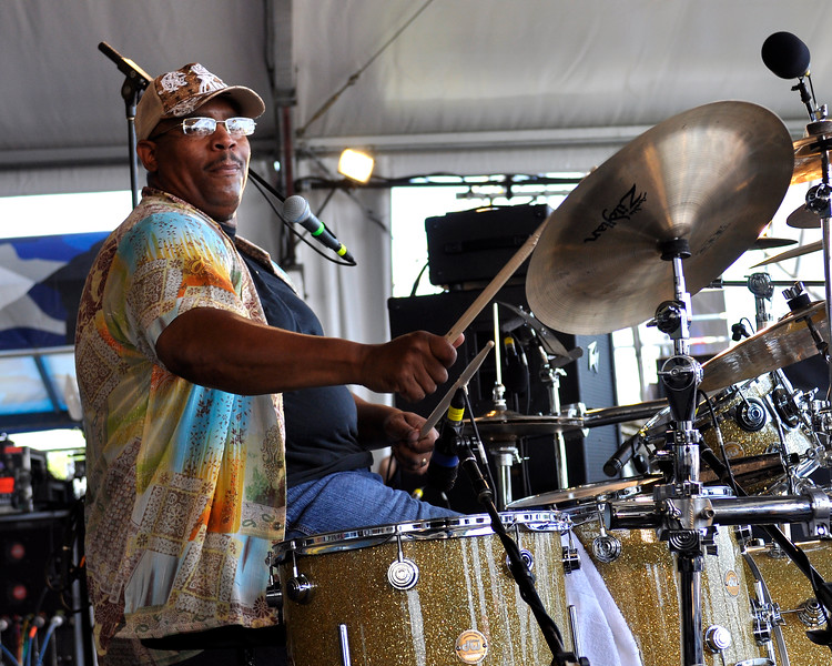 Raymond Weber performing with Ivan Neville's Dumpstaphunk at the New Orleans Jazz & Heritage Festival on April 25, 2009.
