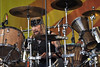 NEW ORLEANS, LA-APRIL 29: Matt Abts performs with Gov't Mule on the Acura Stage at the New Orleans Jazz & Heritage Festival on April 29, 2010. (Photo by Clayton Call/Redferns)