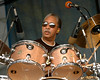 "Joseph ""Zigaboo"" Modeliste"" plays with the Meters at Jazzfest 2006."