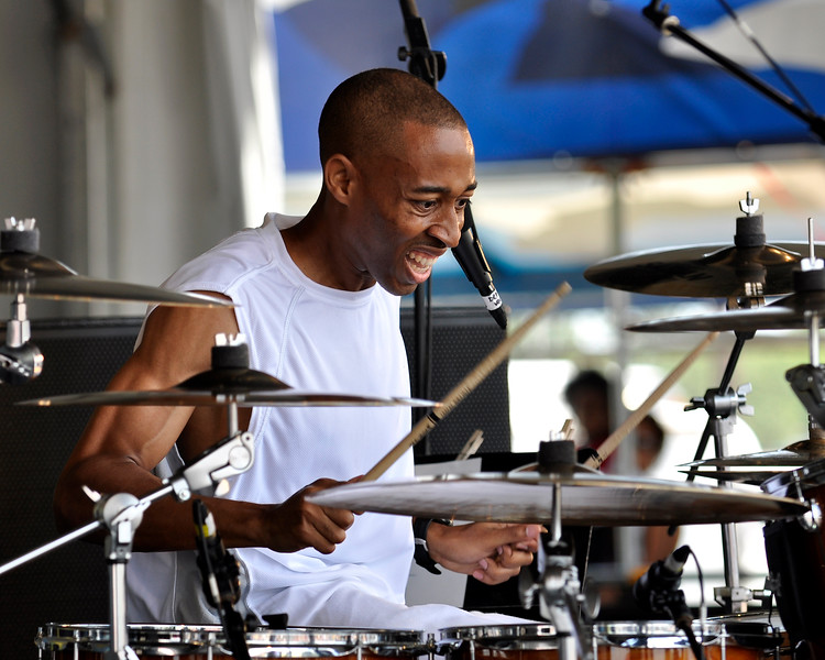 Jamal Baltiste performing at the New Orleans Jazz & Heritage Festival on May 2, 2009.