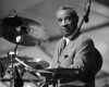 Max Roach performs at the New Orleans Jazz & Heritage Festival in 1994.
