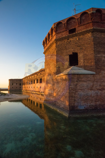 Fort Jefferson West side with moat.jpg