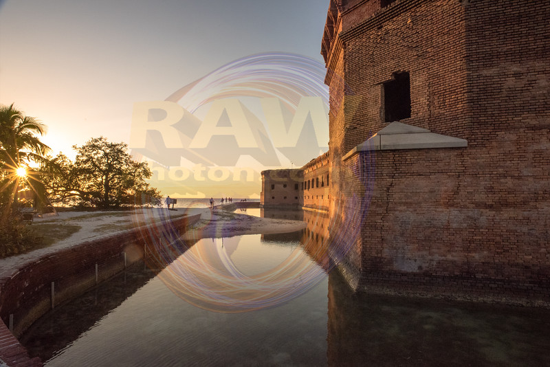 Fort Jefferson West side with moat 2.jpg