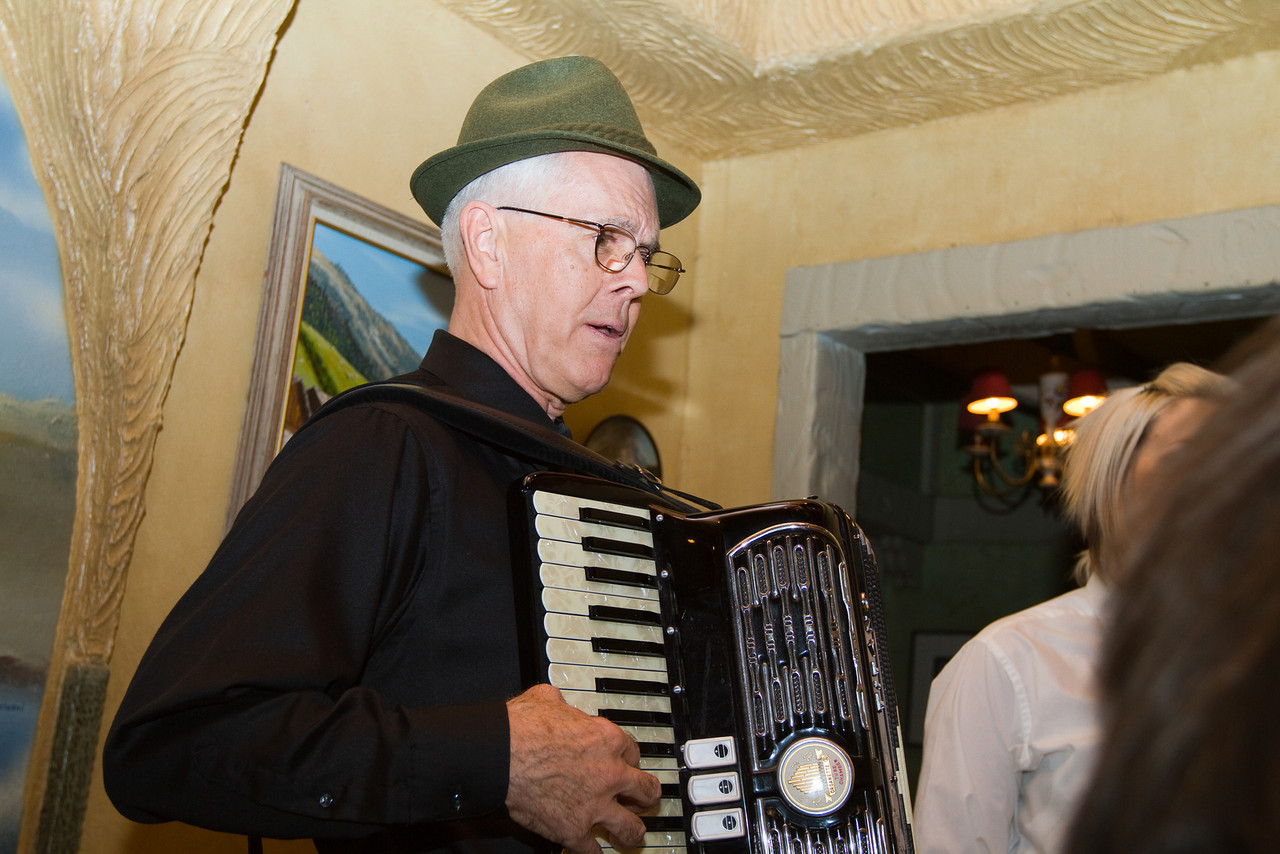 The man with the accordian kept everyone entertained.