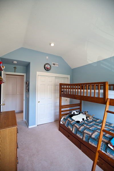 Alternate view of the upstairs second bedroom. Double closet located to the rear.