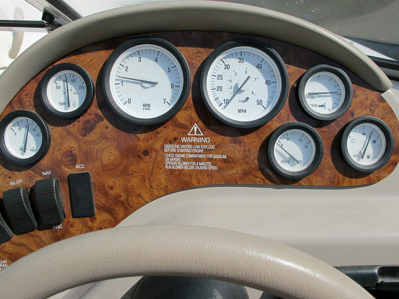 Close up of the instrument panel, all is functional.
