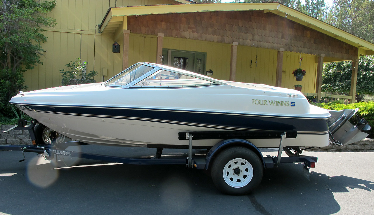 This is our 1997 Four Winns Horizon QX.  It is a 17 foot boat with a 4.3L Volvo Penta SX engine.  We have owned it since 2000 and purchased it from the original owner in Portland.  It has been a great family boat and it is in excellent condition.  $6,999 OBO.  (541) 419-6854.  Serious inquires only and cash only.  Thanks.  Rob.