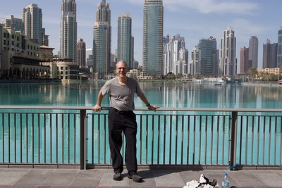 Bob near Dubai Mall and Burj Khalifa