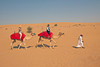 Camel rides in the Arabian Desert outside of Dubai...Called the Desert Safari.