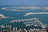 Boat harbor close to Palm Island in Dubai.