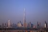 The Burj Khalifa dominating the skyline of Dubai, UAE.