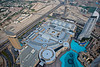 From the observation floor (124th) the Dubai Mall is visible with the circles where several different Atriums are located. The Dubai Mall is the world's largest shopping mall based on total area and has 10–15 distinct 'malls-within-a-mall'.