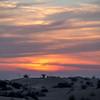 Sunset in the desert hills  outside of Dubai City, Dubai, United Arab Emirates.