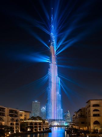 Burj Khalifa Laser Show