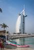 The Burj Al Arab Hotel on Jumeirah Beach, Dubai, UAE, Middle East.