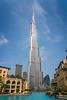 The Burj Khalifa tall building in downtown Dubai, UAE, Middle East.