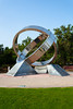Friendship Rings monument in Creek Park designating the friendship of America and the UAE in Dubai.