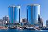 The Dubai Creek skyline office towers in Dubai, UAE, Persian Gulf.
