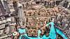 A view of the city skyline and Lake Hotel from Burj Khalifa, Dubai, UAE, Middle East.