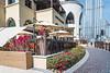 An outdoor restaurant near the Burj Khalifa in downtown dubai, UAE, Middle East.
