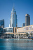 The Dubai Mall and The Address Boulevard Hotel in downtown Dubai, UAE, Middle East.