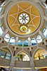 The center dome at the Dubai Mall shopping center in Dubai, UAE.
