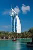 The Madinat Jumeirah and the Burj al Arab Hotel in Dubai, UAE.