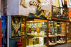 Jewelry shops in the Gold Souq of Dubai, UAE.