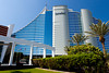 The Jumeirah Beach Resort hotel exterior in Dubai, UAE.