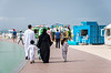 The boardwalk at Kite Beach, Dubai, UAE, Middle East.