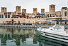 A souk market and marina near Kite Beach, Dubai, UAE, Middle East.